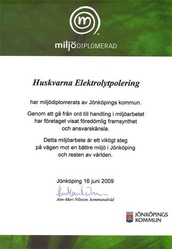 Miljodiplom